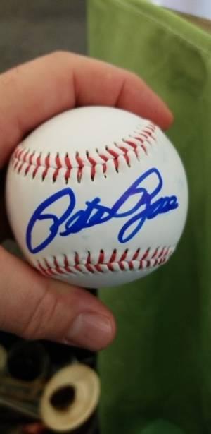 7 Signed Pete Rose Baseball